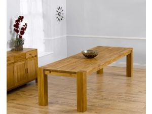 Madrid Chunky Solid Oak Dining Table in a Fingerjoint Style Large