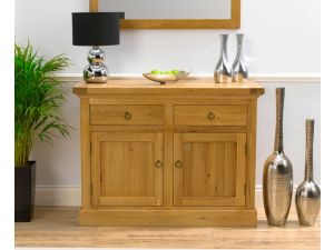 Rustique Solid Oak 2 Doors 2 Drawers Sideboard