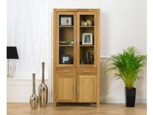 Verona Solid Oak Bookcase Display Unit