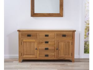 York 150 cm Oak 2 Door + 6 Drawers Sideboard