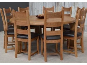 Danube Oak Round Dining Table