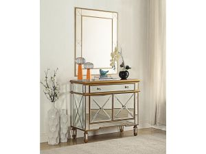 Imperial Mirrored 2/1 Chest And Mirror Set