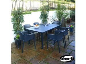 Europa Anthracite Libeccio Standard Set With 6 Net Chairs