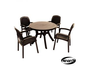 Europa Anthracite Toscana 100 Plain With 4 Beta Chairs