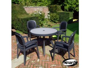 Europa Anthracite Toscana 100 Ravenna With 4 Beta Chairs