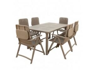 Europa Step Turtle Dove Standard Table With 2 Bistrot Chairs