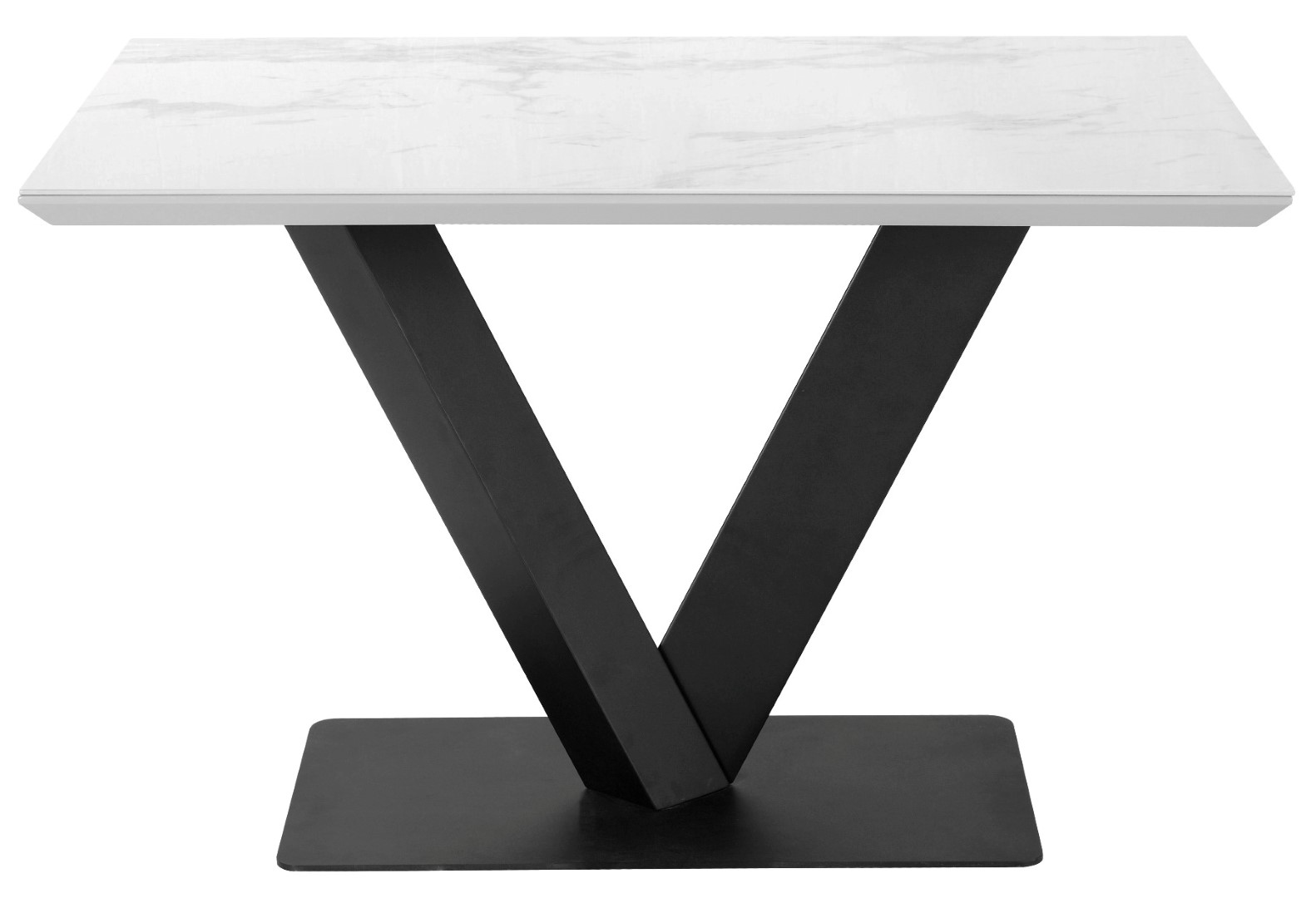 Alessia 120cm White Marble Rectangular Dining Table