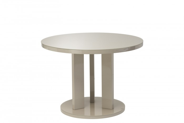 Ellie Latte High Gloss 107cm Round Dining Table