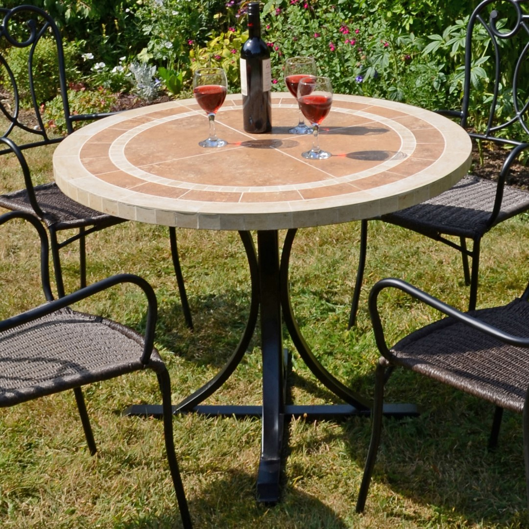 Europa Langley 100cm Round Ceramic Dining Table