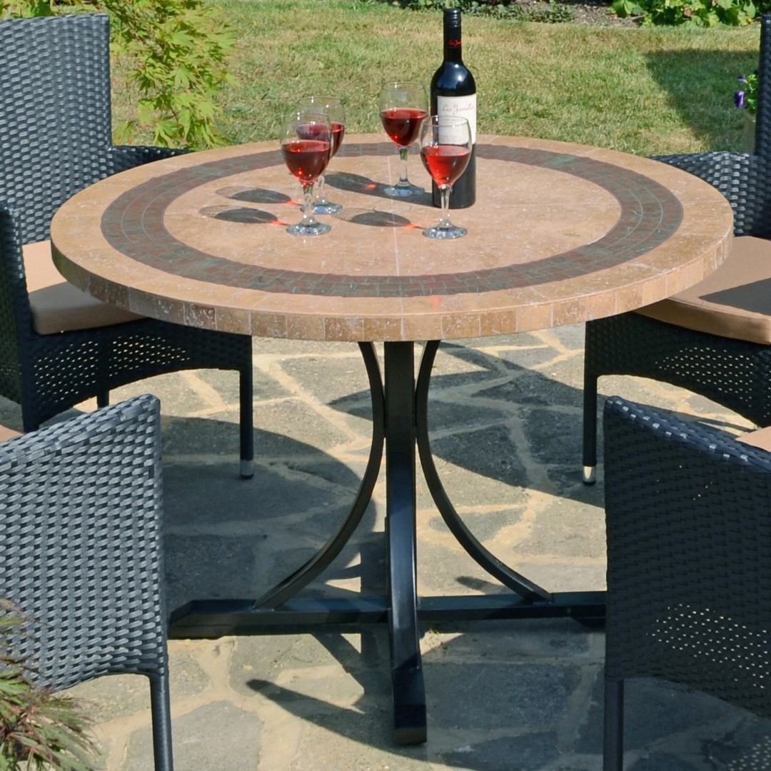 Europa Vermont 110cm Round Marble Dining Table