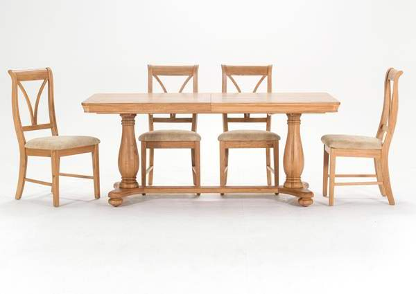 Carmen 180cm Large Oak Ext. Dining Table with 8 Chairs