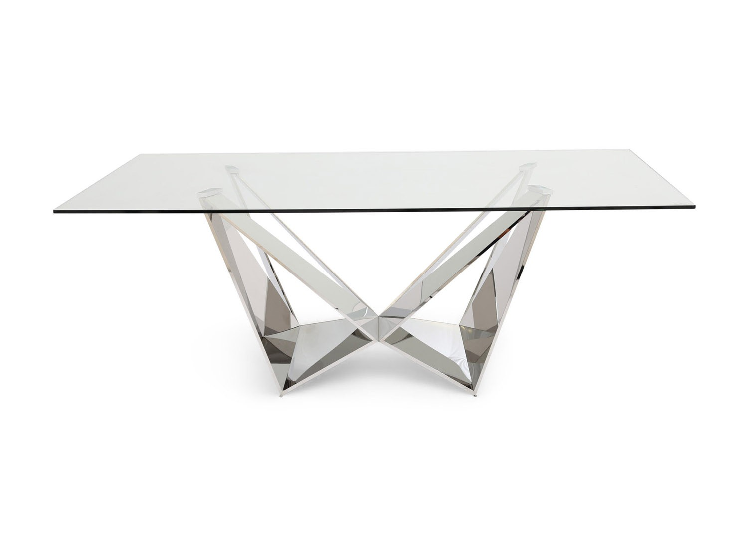 Fairmont Florentina Clear Glass Dining Table + 6 Paolo Grey