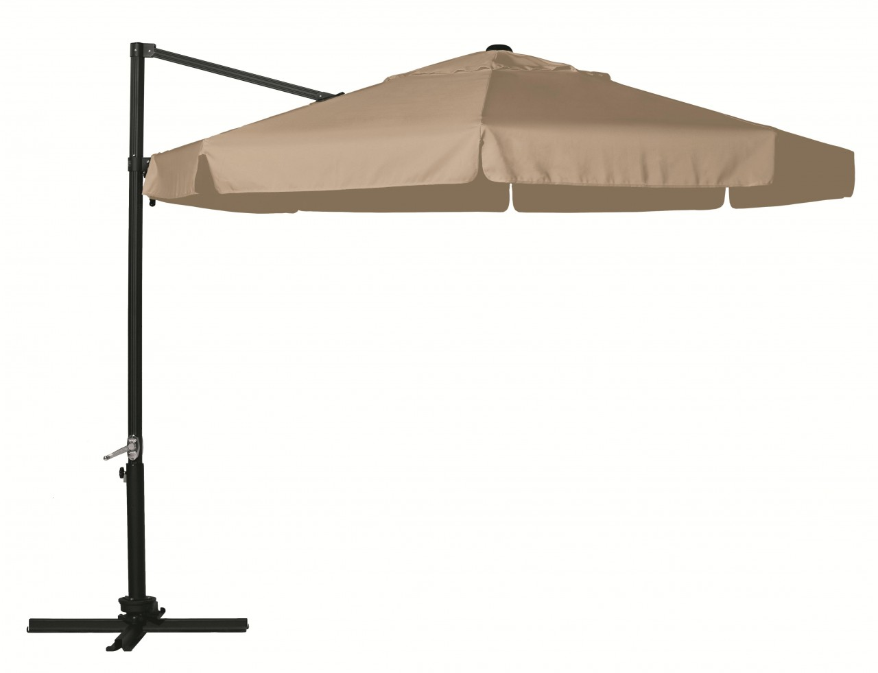 Hartman 3m Focus Free Arm Parasol in Caramel With Silver