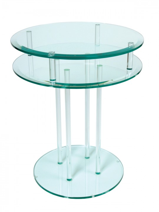 Greenapple Clear Glass Round Occasional Table