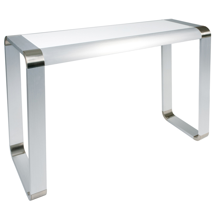 Photo of Greenapple lychee oasis white glass console table