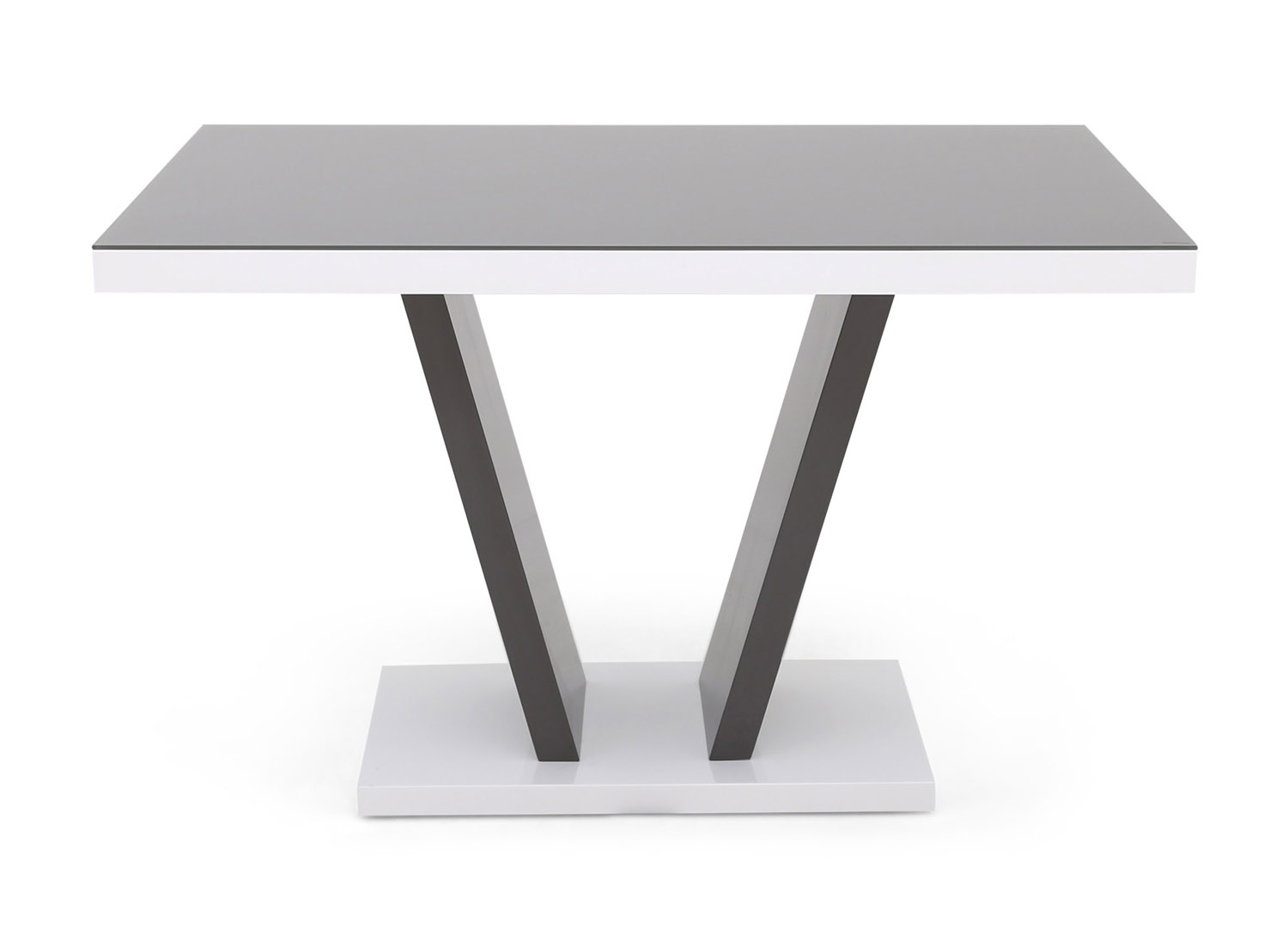 Photo of Fairmont valentino 120cm grey high gloss dining table
