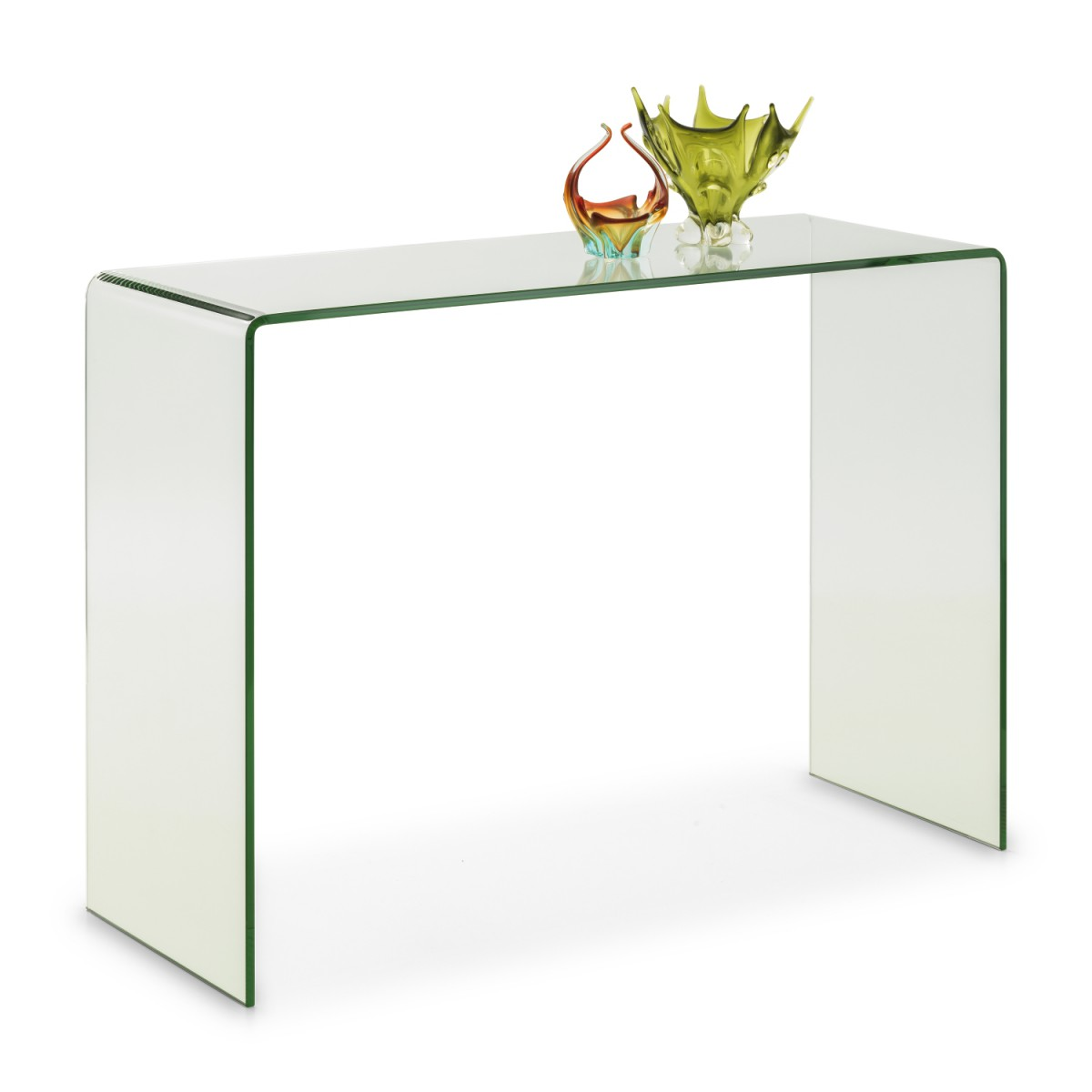 Julian Bowen Amalfi Bent Glass Console Table