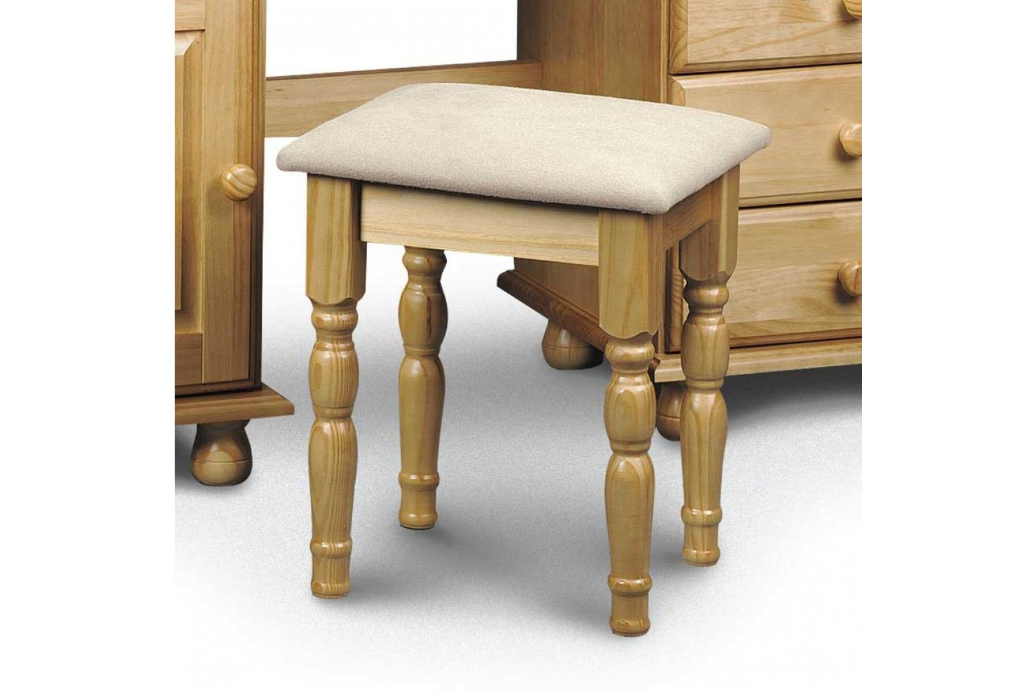 Photo of Julian bowen pickwick solid pine dressing table stool