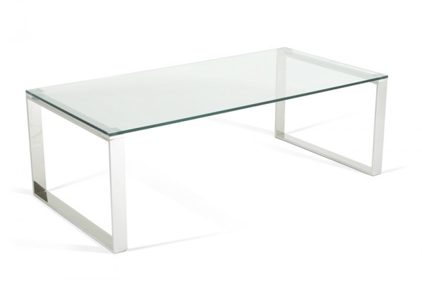 Photo of Serene kayla glass top with stainless steel coffee table