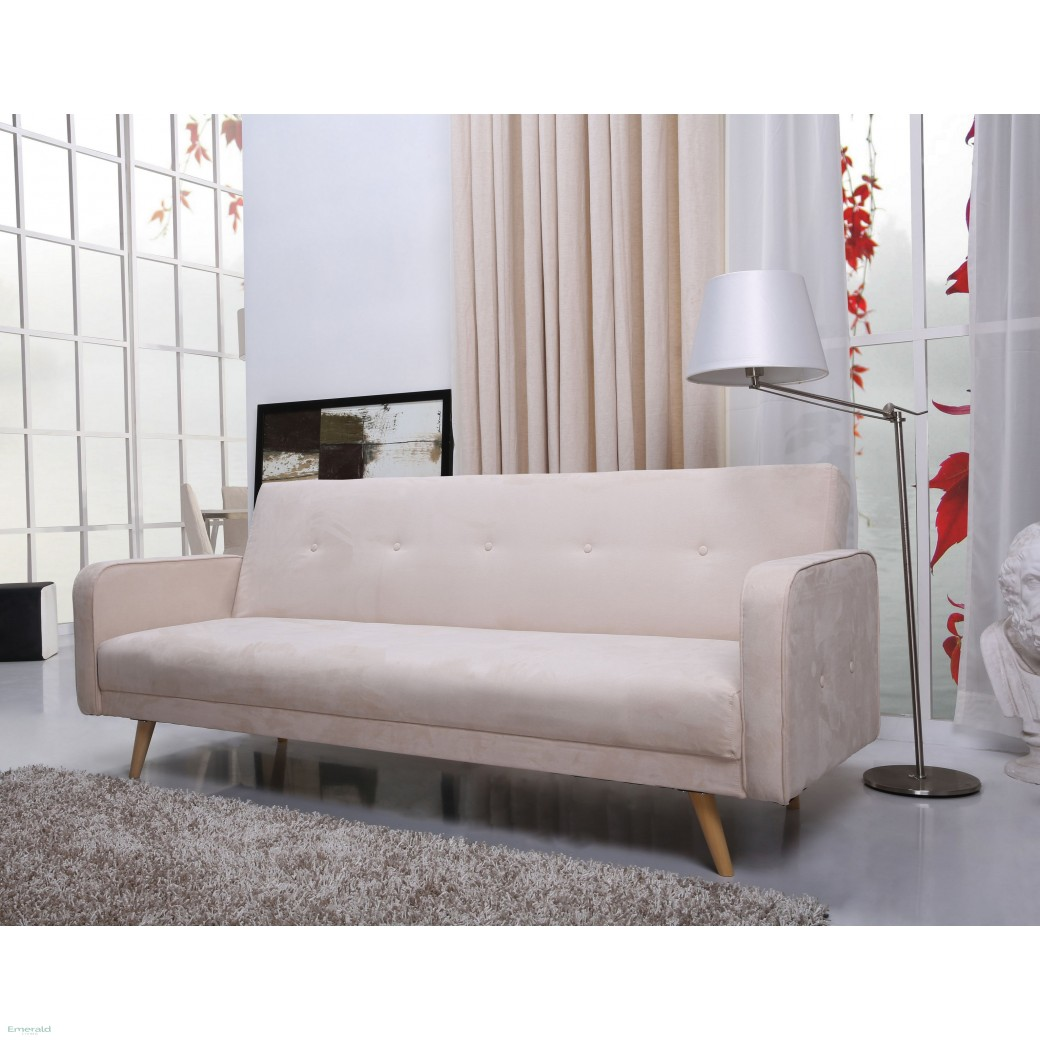 Kyoto Delicate Beige Fabric Sofa Bed