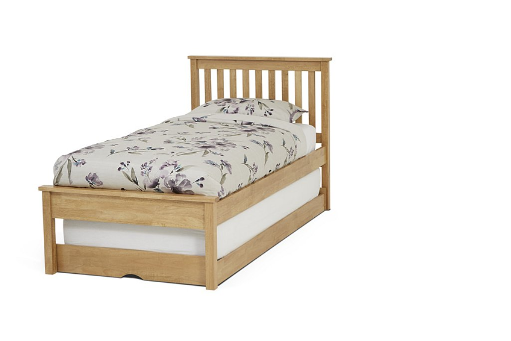Serene Heather 3ft Single Bed + Guest Bed Set Honey Oak