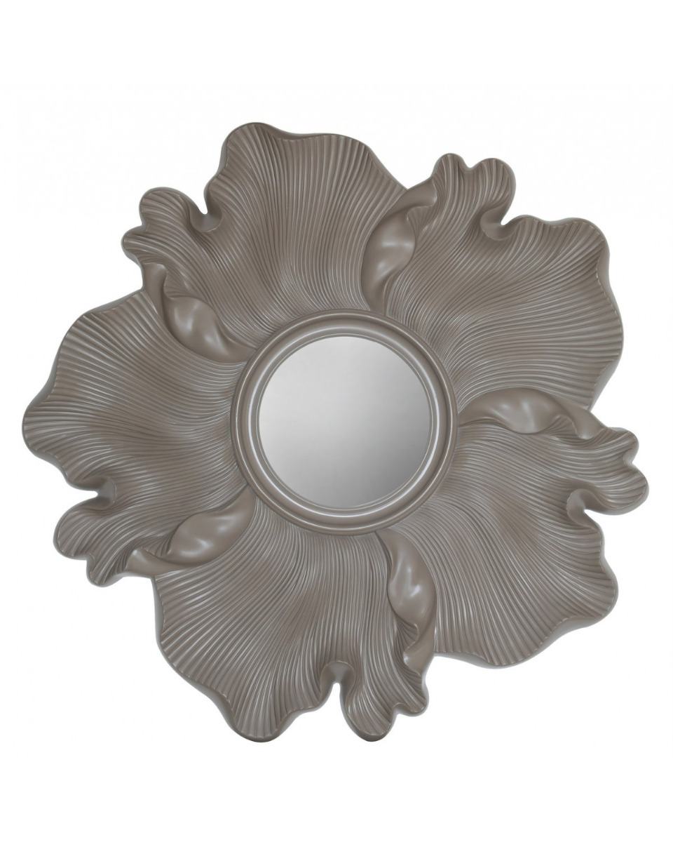 Light Taupe Flower Wall Mirror