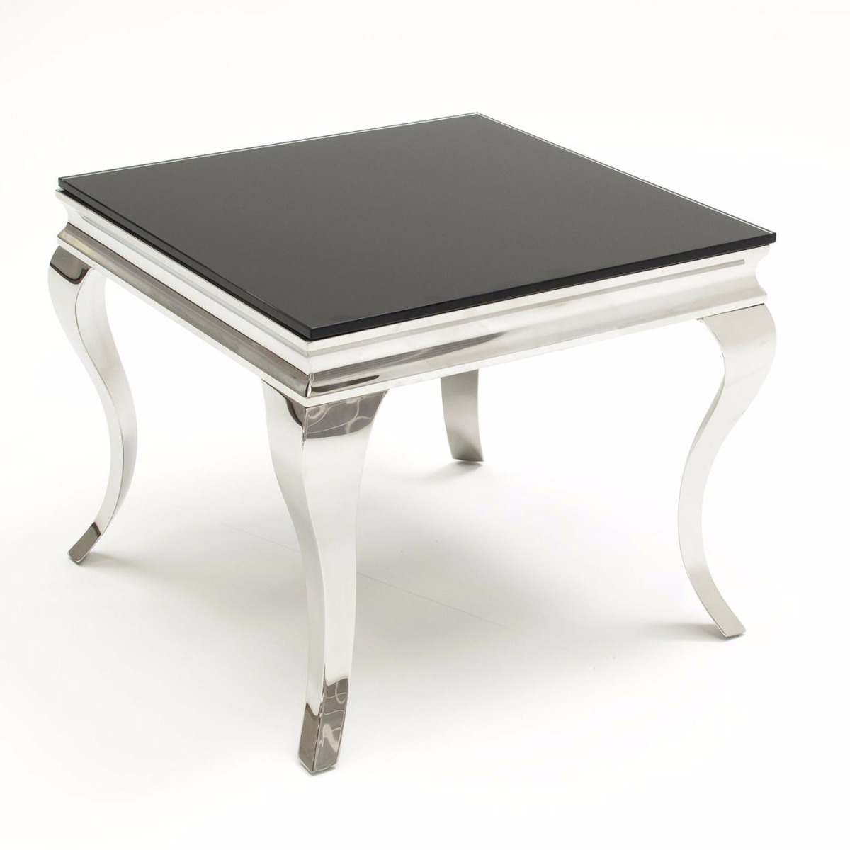 Louis Black Tempered Glass End Table