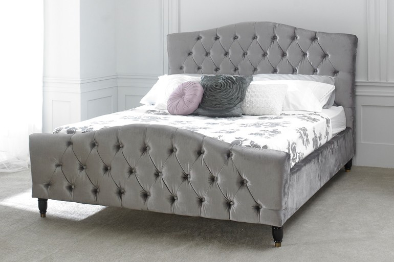 Photo of Limelight phobos 4ft6 double silver fabric bed