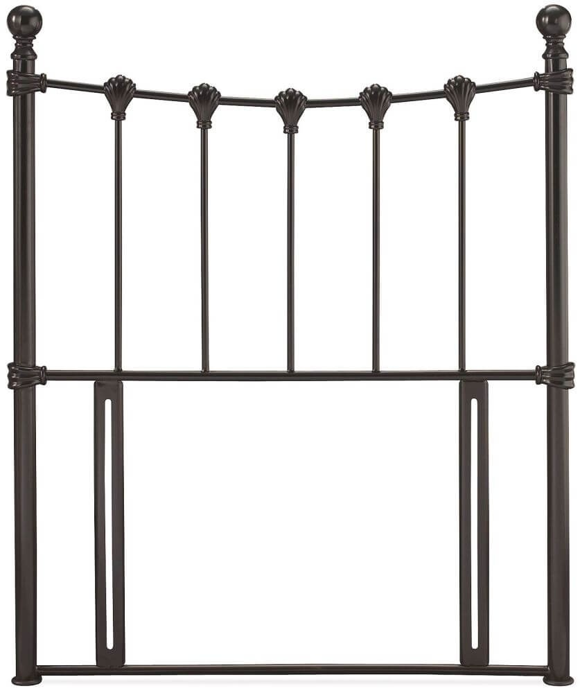 Serene Marseilles 3ft Single Black Gloss Metal Headboard