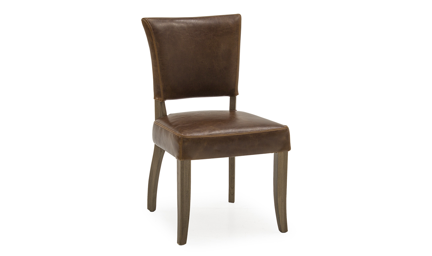 'Duke Tan Brown Leather Dining Chair