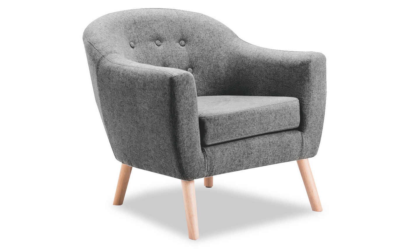 Perig Light Grey Accent Fabric Chair