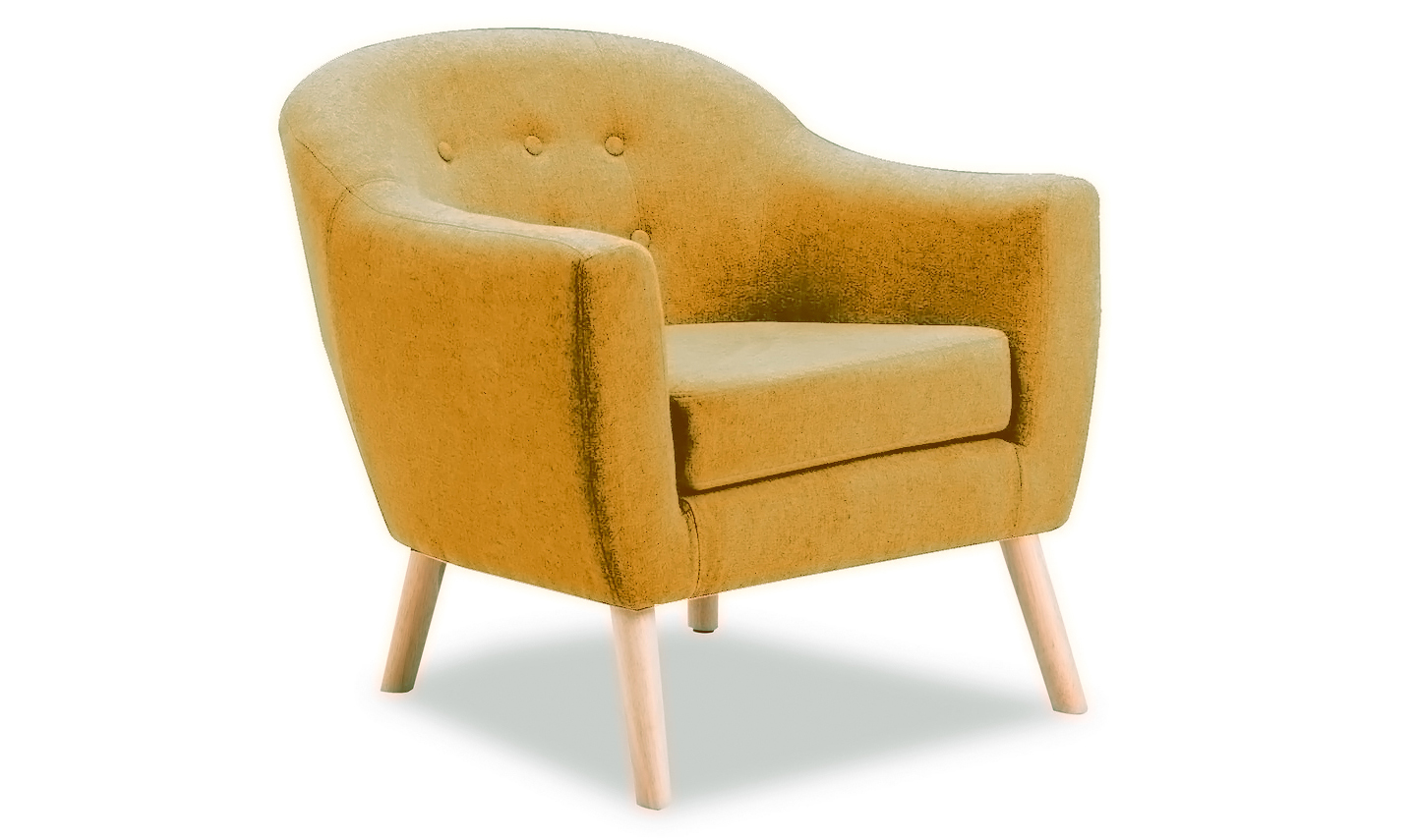 Perig Mustard Accent Fabric Chair