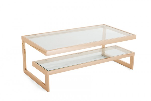 Photo of Serene mera glass top with rose gold coffee table