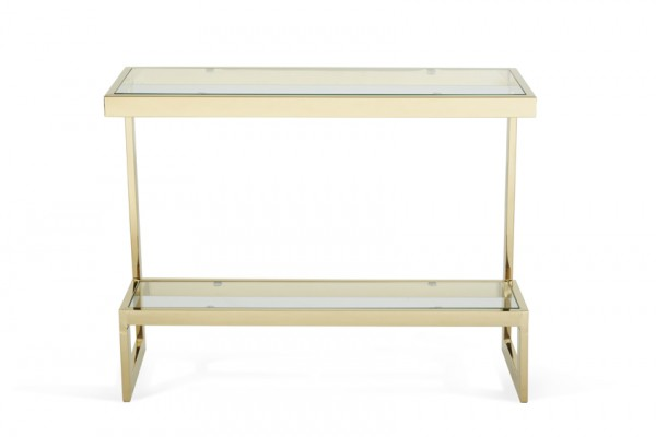 Serene Mera Glass Top with Gold Console Table