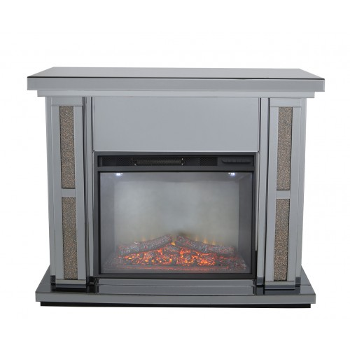 Massimo Smoked Mirror Fire Surround With Electric Fire (Set).