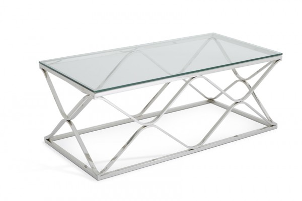 Photo of Serene orion glass top stainless steel coffee table