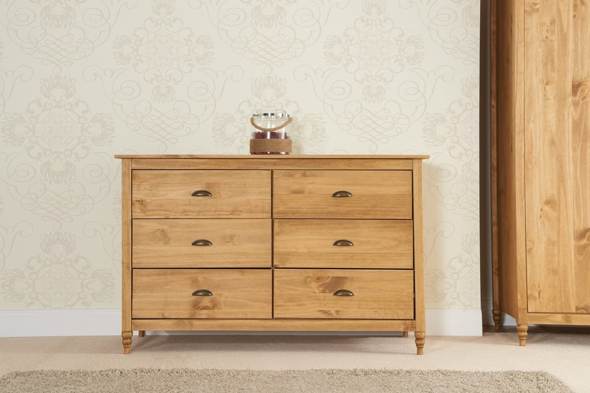 Pembroke Pine 6 Drawer Wide Chest