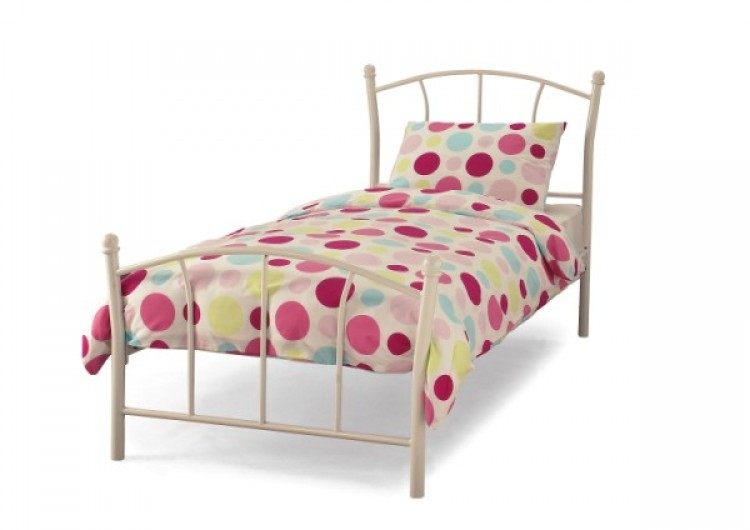 Serene Penny 3ft Single White Metal Bed