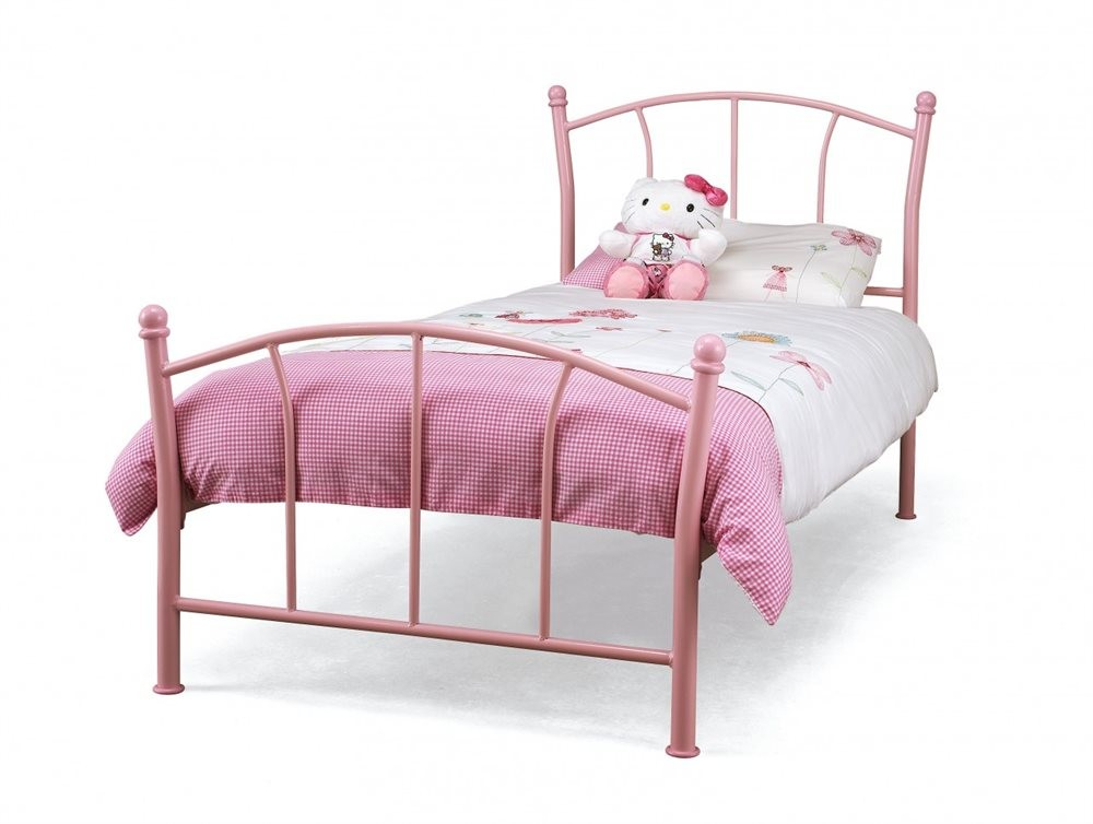 Serene Penny 3ft Single Pink Metal Bed