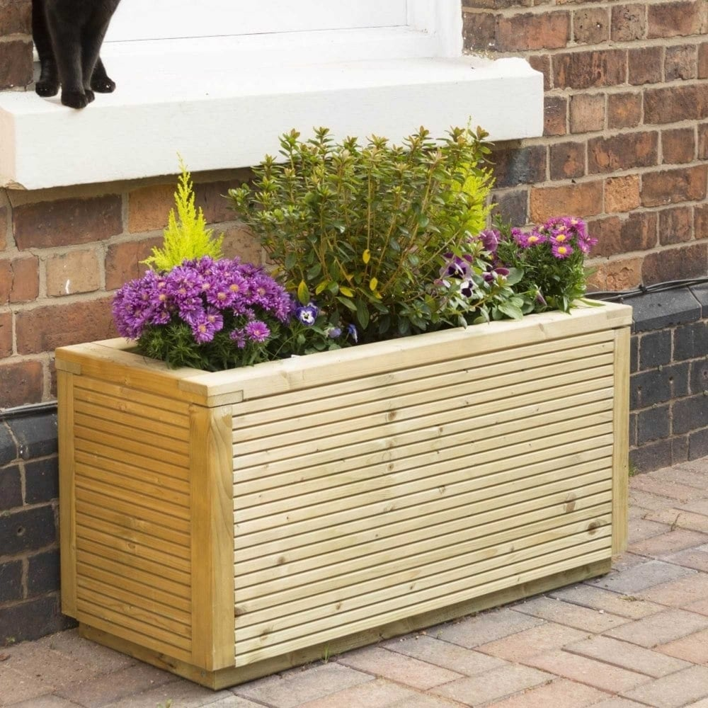 Photo of Rowlinson ellesmere rectangular planter