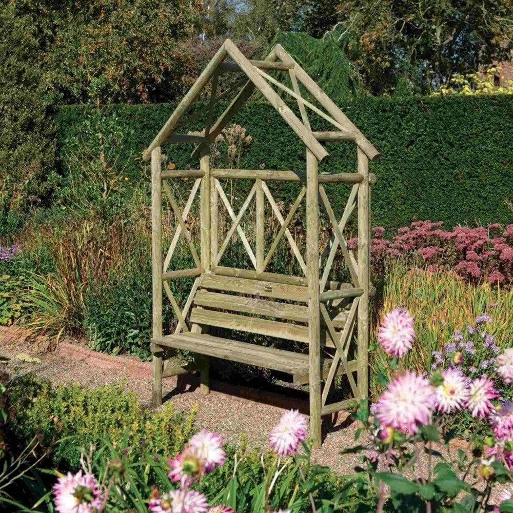 Rowlinson Rustic Arbour Seat