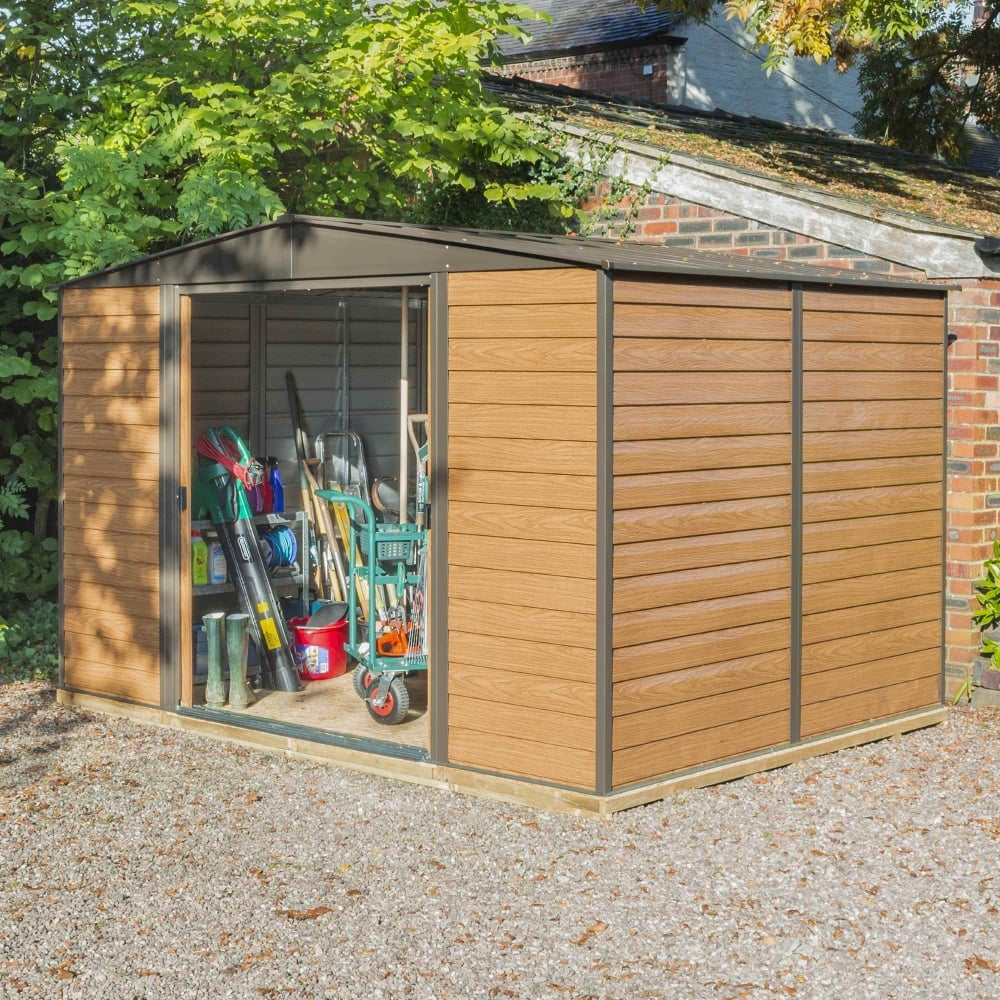 Rowlinson 10x8 Woodvale Metal Apex Shed With Floor & Assembly