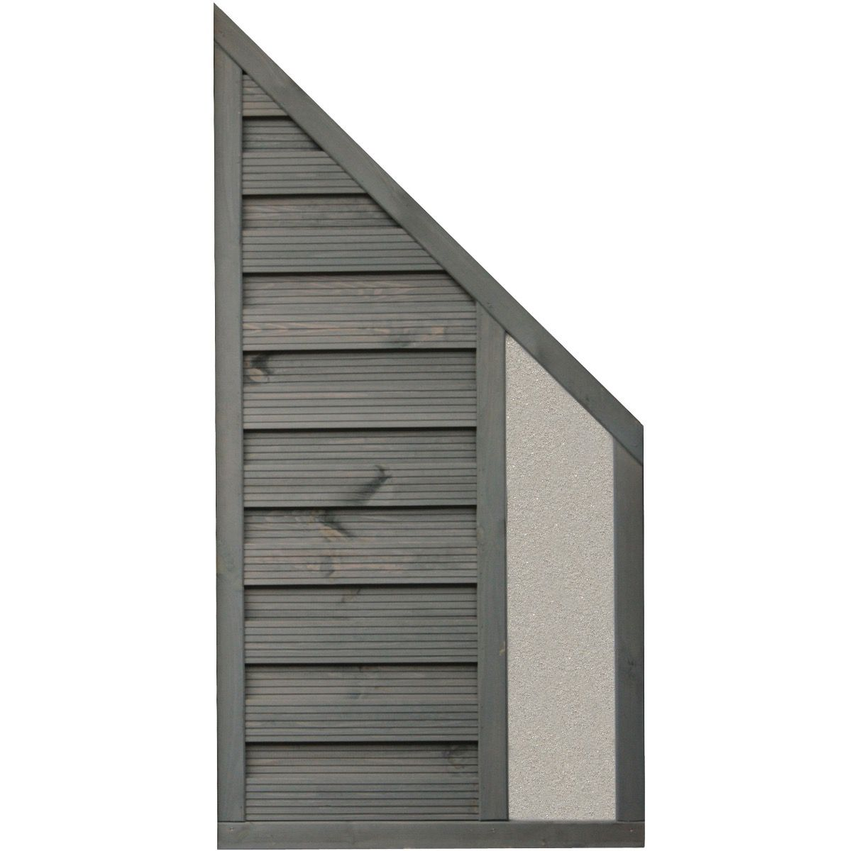 Rowlinson 6x3 Angled Palermo Screen Solid Infill