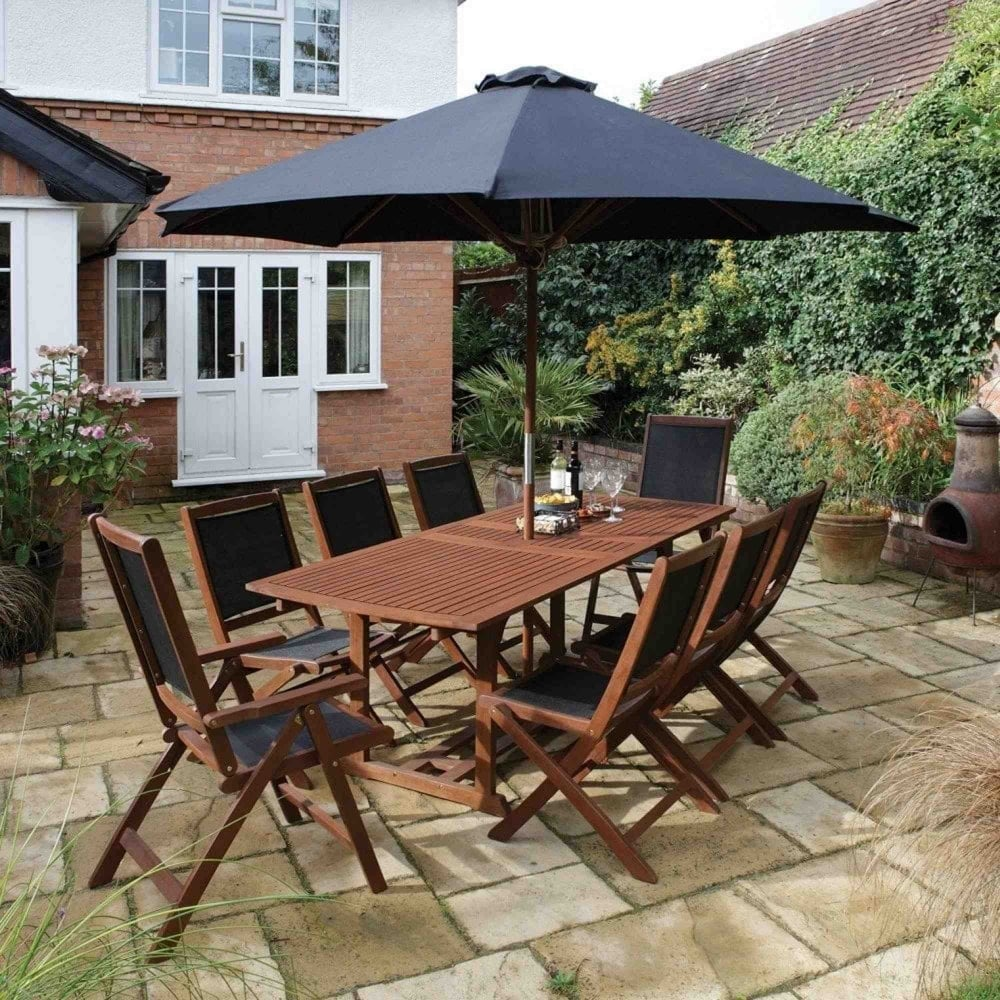 Rowlinson Bali 8 Seater Extending Dining Set