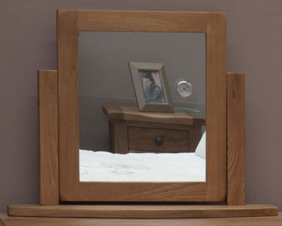 Photo of Rustic oak dressing table mirror