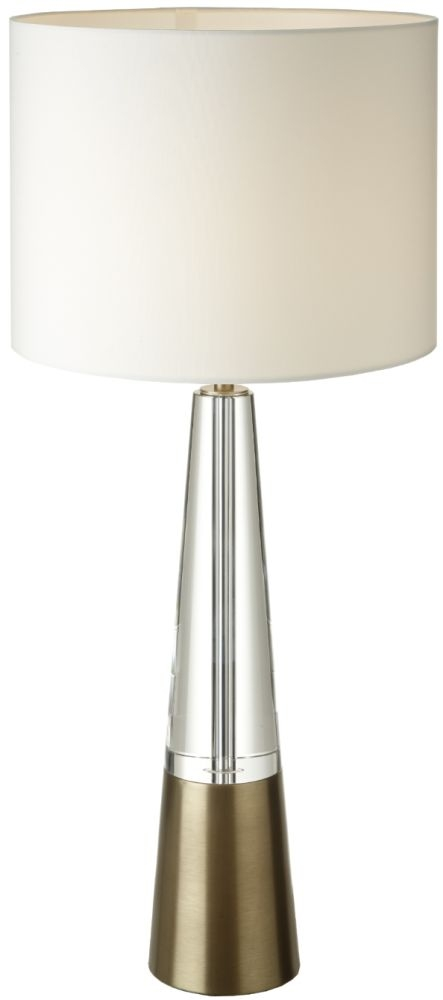 RV Astley Edvin Antique Crystal Table Lamp