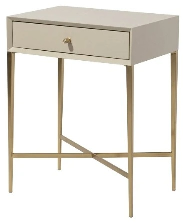 RV Astley Finley Ceremic Grey Wooden Side Table