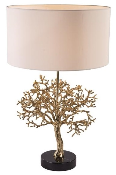 RV Astley Portia Brass and Marble Table Lamp