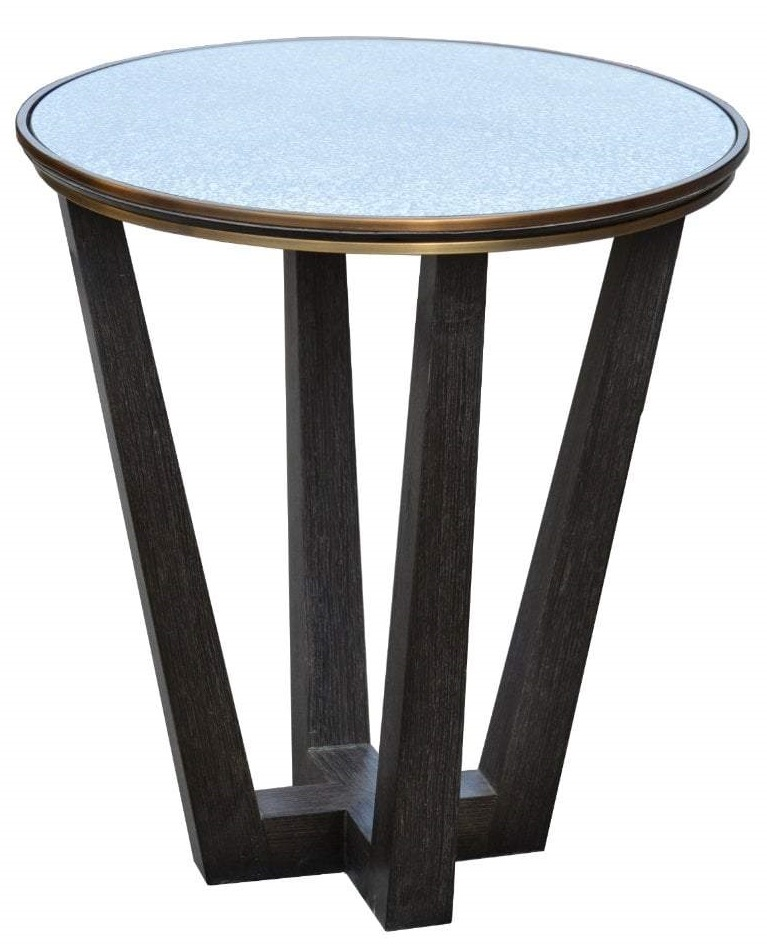 RV Astley Takeley Glass Round Side Table