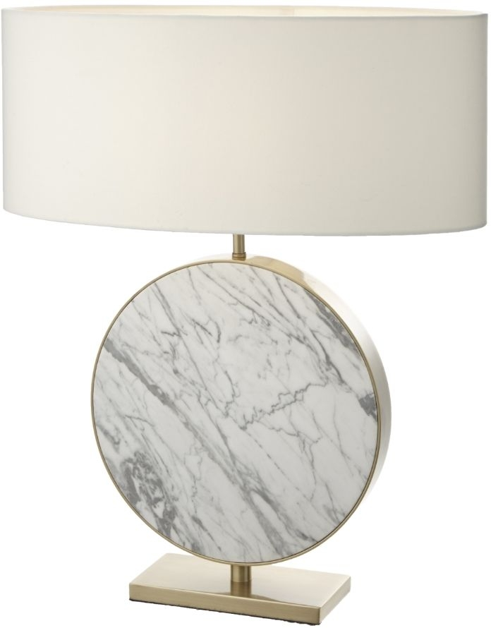 RV Astley Valery White Marble Table Lamp